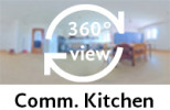 360-view of a Communal Kitchen.
