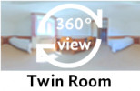 360-view of a Twin Room.