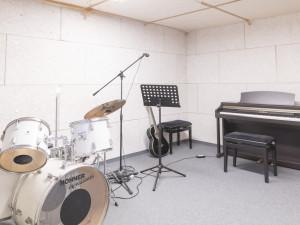 Music practice room of the ÖJAB-Haus Salzburg in Salzburg.