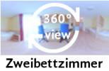 360-Grad-Aufnahme des Zweibettzimmers
