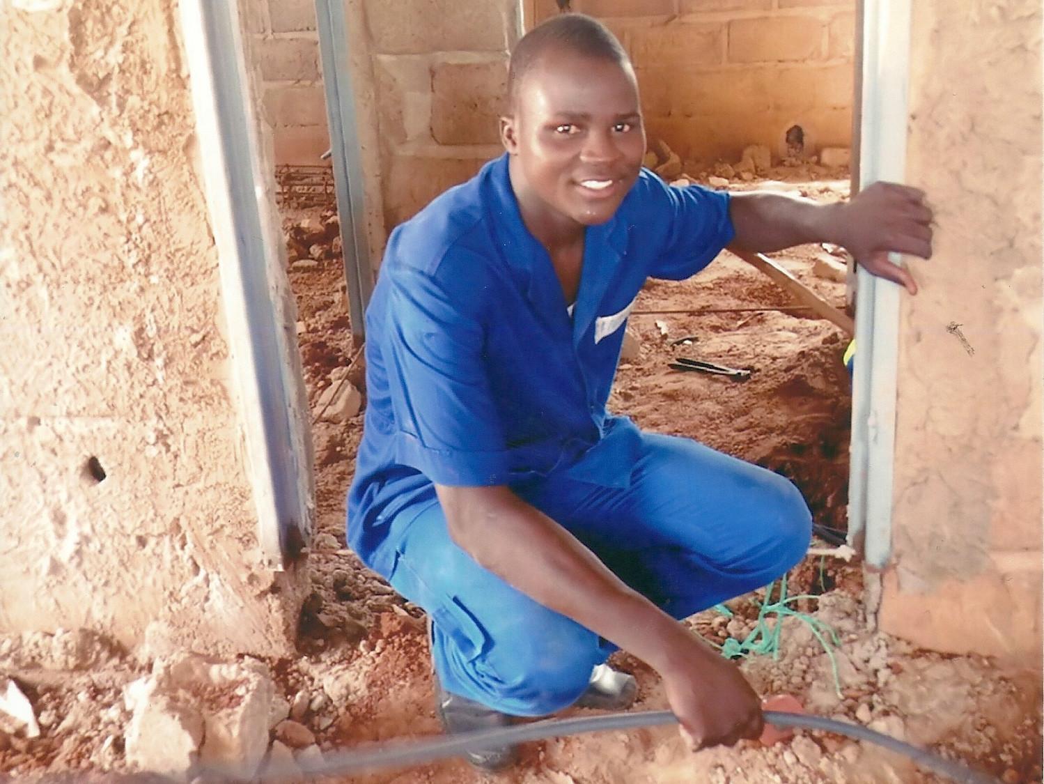Hamidou, Teilnehmer des Ausbildungsprojekts CAFOC.