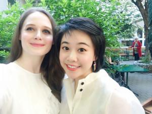 Wenqi Zhao (rechts) studiert an der Universität für Musik und darstellende Kunst Wien und Anna Nekhames an der Musik und Kunst Privatuniversität der Stadt Wien.