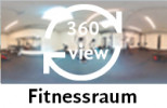 360-Grad-Aufnahme des Fitnessraums