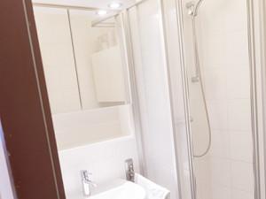 Bathroom at the ÖJAB-Haus Salzburg in Salzburg.