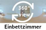 360-Grad-Aufnahme: Einbettzimmer