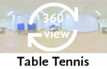 360-view of a Communal Room with Table Tennis.