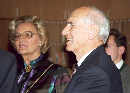 Dr. Rudolf Kirchschläger with his wife Herma