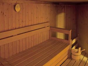 Sauna of the ÖJAB-Haus Salzburg in Salzburg.