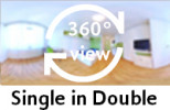 360-view of a Single in Double Room.