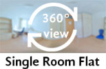 360-view of single room flat