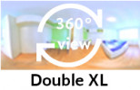 360-view of a Double XL Room for Couples.
