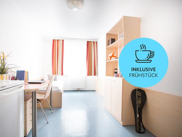 Einbettzimmer des ÖJAB-Hauses Niederösterreich 2.