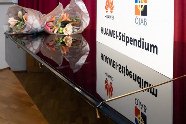 """Tafel """"Huawei-Stipendium"""""""