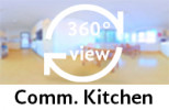 360-view of communal kitchen