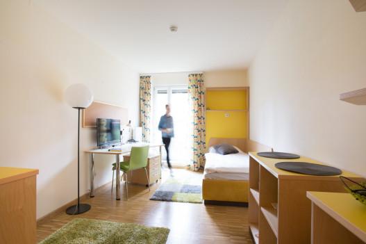 Comfortable Single Room of the ÖJAB-Hauses Bad Gleichenberg.