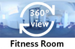 360-view of fitness room