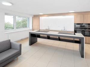 modern communal kitchens at the ÖJAB-Haus Niederösterreich 1.