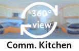 360-view of communal kitchen