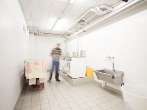 Waschsalon des ÖJAB-Hauses Eisenstadt.