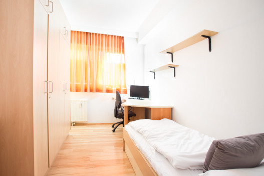 Einbettzimmer im ÖJAB-Haus Leebgasse.