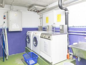 Laundry room of the ÖJAB-Haus Salzburg in Salzburg.