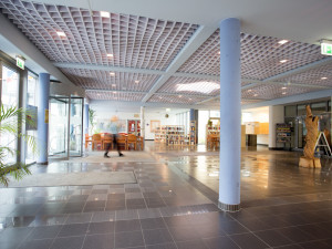 Eingangsbereich des ÖJAB-Hauses Eisenstadt.