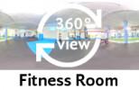 360-Grad-Aufnahme Fitness Room