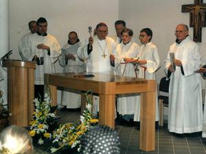 Segnung der Kapelle am 9. Oktober vor 27 Jahren.