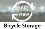 360° view of bicycle storage