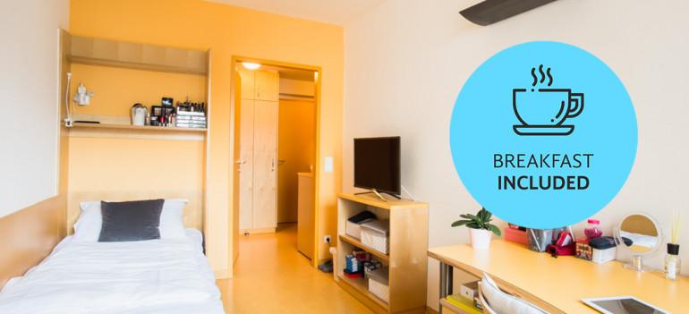 Single Room at the ÖJAB-Haus Meidling.