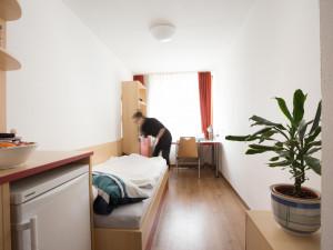 Einbettzimmer im ÖJAB-Haus Salzburg in Wien.