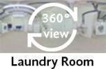 360° view of laundry room