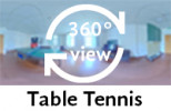 360-view of communal room with table tennis.
