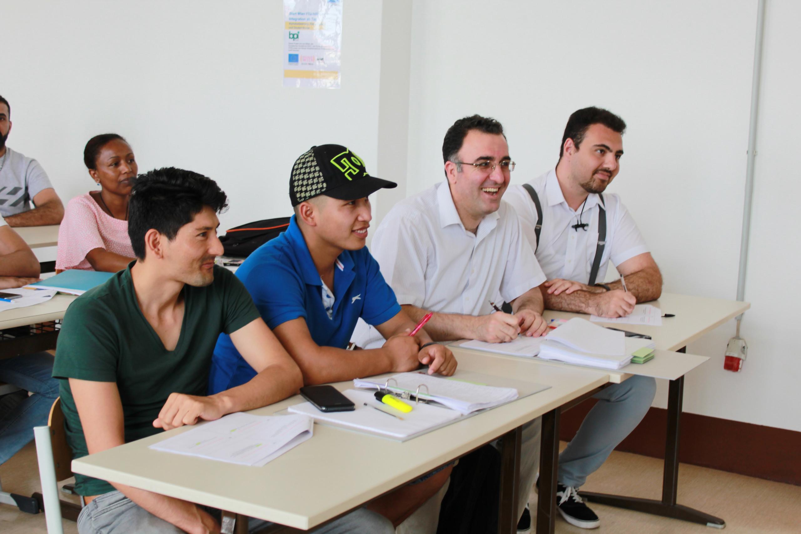 Language course participants.