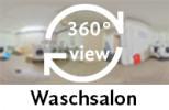 360-Grad-Aufnahme des Waschsalons.