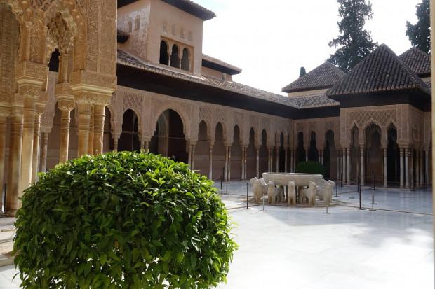 Löwenhof, Alhambra in Granada. Foto: Ottilie Reinfeld.