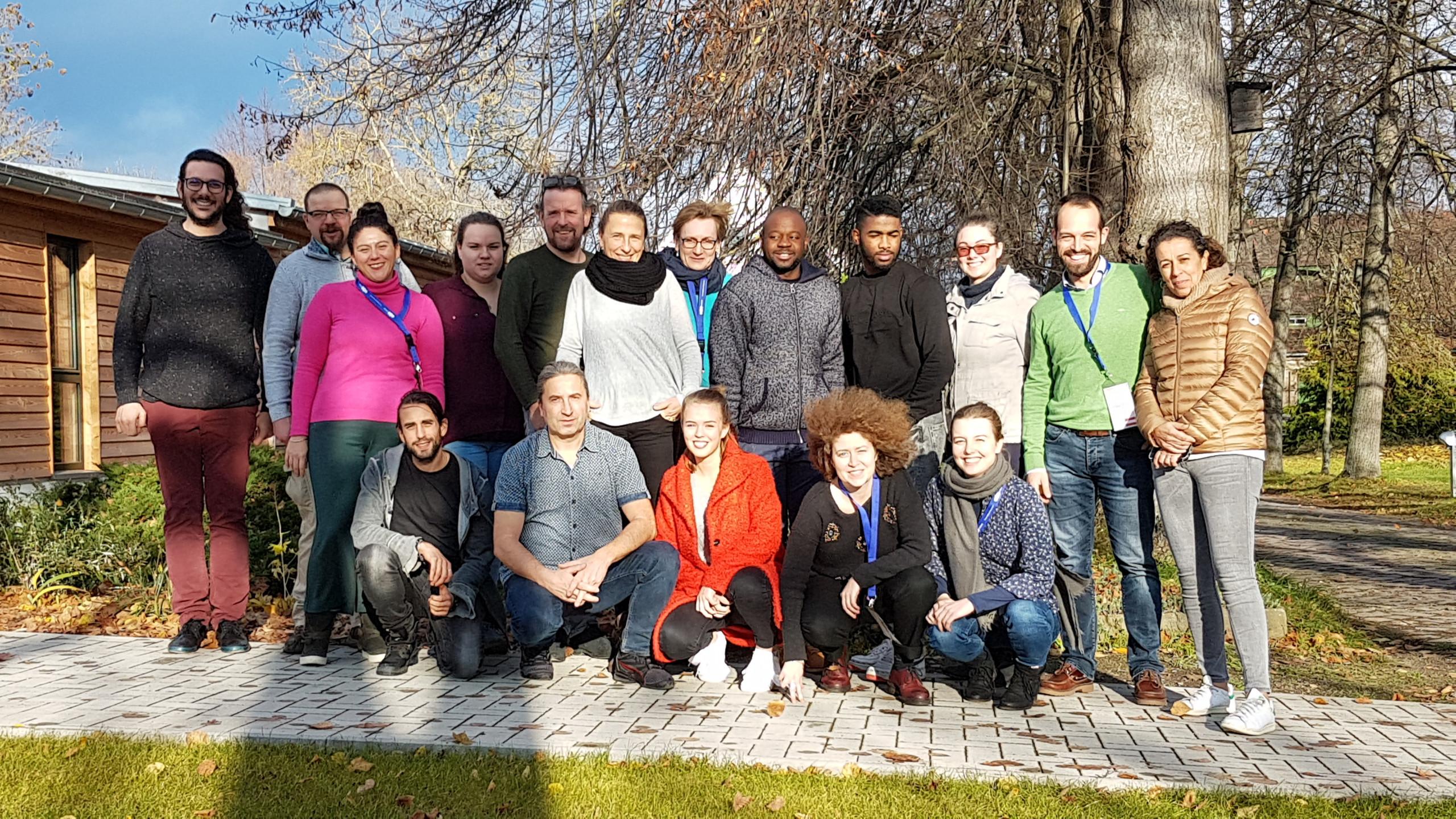Kickoff meeting in Germany. Photo: Stiftung Evangelische Jugendhilfe St. Johannis Bernburg.