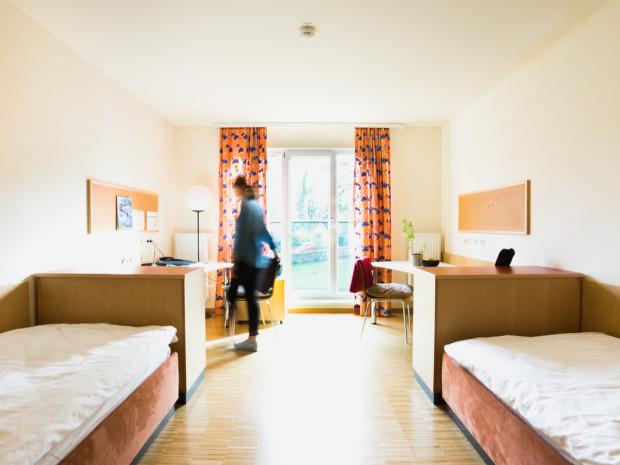 Zweibettzimmer des ÖJAB-Hauses Bad Gleichenberg.