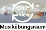 360-Grad-Aufnahme des Musikübungsraums