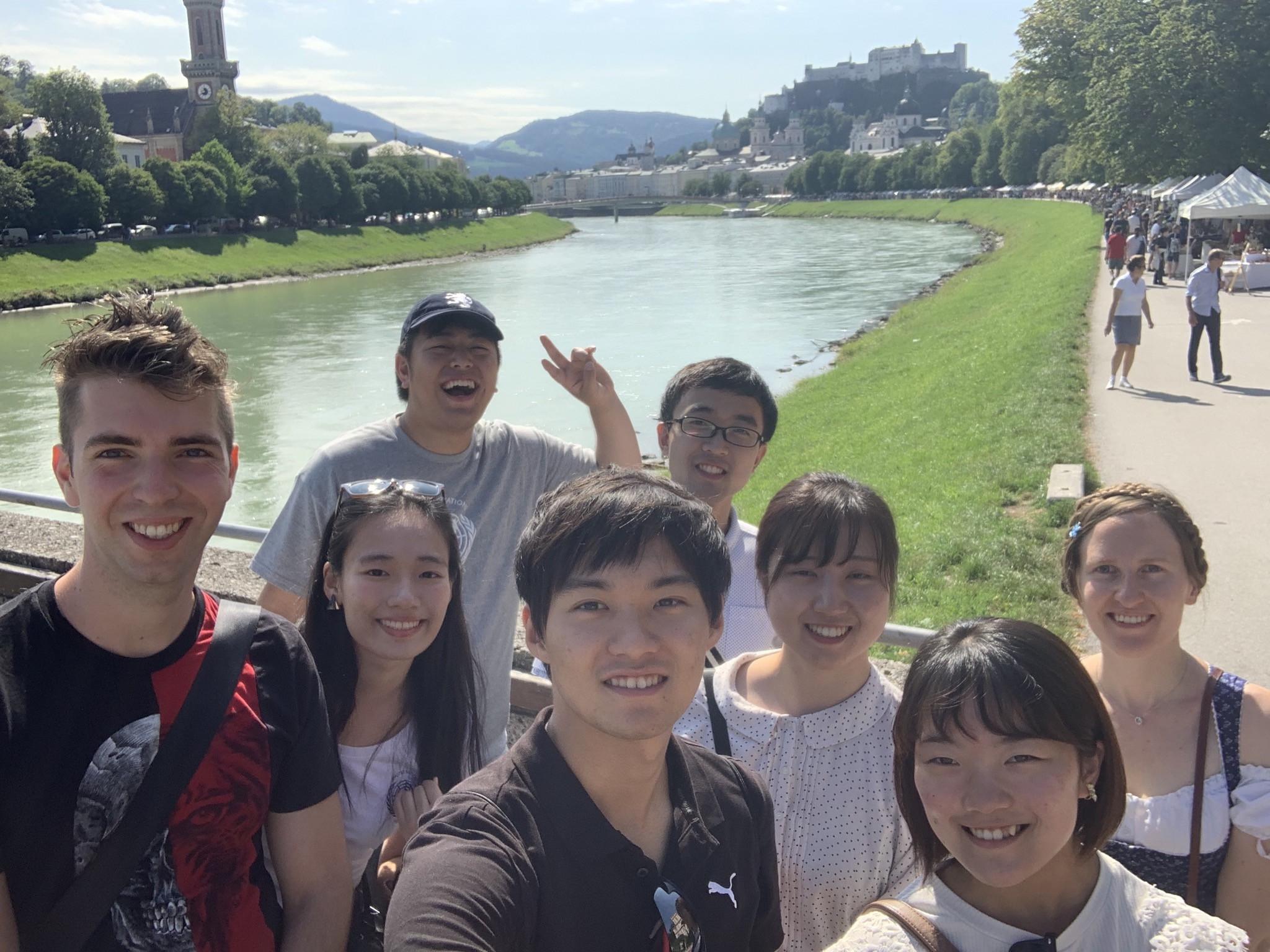 Japanische Studierende 2019 zu Besuch in Österreich. Foto: Yasuaki Kimoto