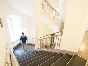 Stiegenhaus im ÖJAB-Haus Graz.