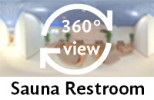 360-view of sauna restroom