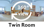 360° view of twin room