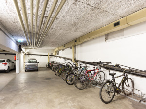 Bicycle storage space of the ÖJAB-Haus Niederösterreich 2.