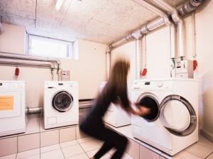 Waschsalon des ÖJAB-Hauses Meidling.