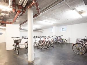 Bicycle storage space of the ÖJAB-Haus Eisenstadt.