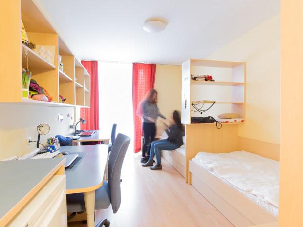 Zweibettzimmer des ÖJAB-Hauses Burgenland 2.