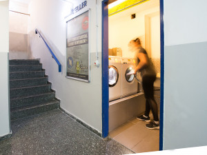 Laundry room of the ÖJAB-Haus Niederösterreich.