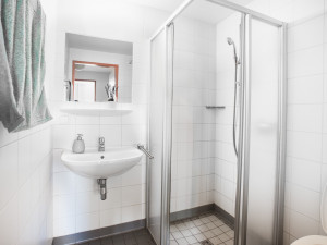 Badezimmer im ÖJAB-Haus Meidling.