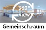 360-Grad-Aufnahme eines Gemeinschaftsraums.